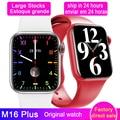 Оригинальные Смарт-часы M16 PLus серии 6 с функцией Bluetooth, экран 1,75 дюйма, мужские и женские Смарт-часы PK IWO W26 Plus для Android и IOS
