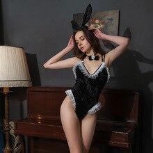 Сексуальное нижнее белье для девочек с французским кроликом; костюм для костюмированной вечеринки; кружевные кроличьи ушки; вечерние Костюмы для ролевых игр; пикантные костюмы для женщин; Костюм Кролика