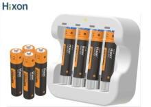 Hixon 4pc 1100mWh 1.5V AAA akumulator litowo jonowy 4 slotowa ładowarka, mysz, zabawka elektryczna, 1200 cykli, wyjście 1.5V