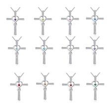 100% 925 Sterling Silver Diamond Necklaces Women Luxury Pierscionki Bizuteria Silver 925 Jewelry Necklace Gemstone Pendant [meibapj] 925 silver 100