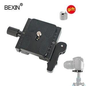 Image 1 - Statyw zacisk lustrzanka cyfrowa adapter do montażu regulowana gałka zacisk podwójna blokada szybkozłączka płyta zaciskowa do Arca Swiss statyw do aparatu