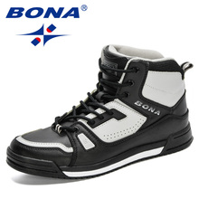 BONA 2020 New Designers Outdoor Travel Trekking Shoes Men Leather Climbing Mountain Shoes Hiking Hunting Boots Mansculino Trendy