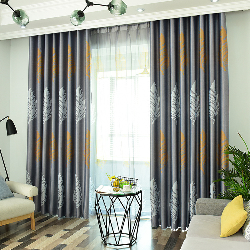 Byetee Blackout Curtains for bedroom Window Treatment Leaves Curtains For Living Room Decorative