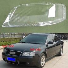 Audi için A6 A6L 1999 2000 2001 2002 far kapağı lamba kapağı far şeffaf abajur lambası cam far Lens