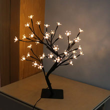 LED Cherry Blossom Lamp 36 Bulbs Vase Coffee Floral Lamp Tree Branch Lights Decorative Light Wedding Home Bar Decor(China)