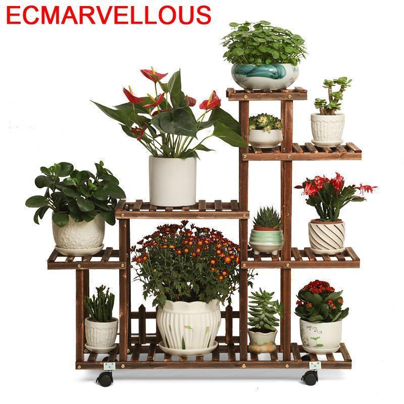 Suporte Flores Plantas Estanteria Para Macetas Indoor Etagere Plante Stojak Na Kwiaty Rack Dekoration Outdoor Flower Plant Stand