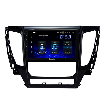 1 Din 9 Android 10.0 Radio Car For Mitsubishi Pajero Sport 2017 Bluetooth Player 4GB RAM HDMI 12V image