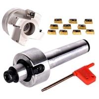 Novo Mt3 Fmb22 M12 shank 400r 50 22 rosto fresa cnc cortador + 10 peças apmt1604 inserções para ferramenta elétrica|Fresa| |  -