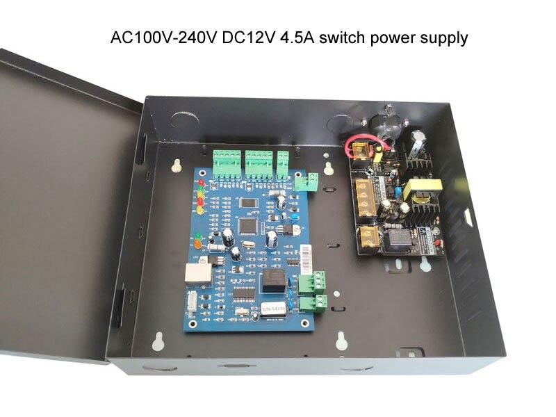 TCP IP Controlador de Acesso única Porta kit com caso o poder 110 V/220 v fonte de alimentação suporte 20K Usuários 100K Eventos sn: b01 set