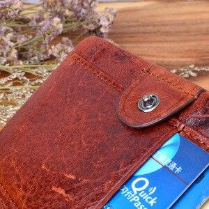 Image 5 - Кошелек AETOO мужской ручной работы, бумажник из 100% натуральной кожи в стиле ретро, клатч с монетницей и кисточкой, лучший подарок