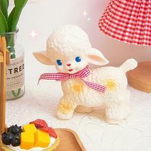 Lamb Rubber Sheep Dolls Retro Lamb Girl Showa Lamb Toy I6N7