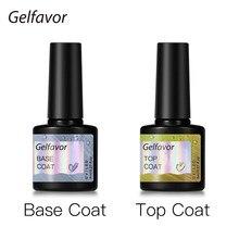 Gelfavor 8ml fosco casaco superior gel unha polonês transparente longa duração manicure uv primer gel laca arte do prego base casaco