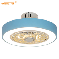 220 V Macaron Fan ceiling with remote control dimming 19 inch cute fan lamp for girl bedroom ventilador de techo