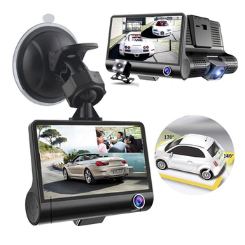 цена на Dash Cam Dual Lens Full HD 1080P 4 IPS Car DVR Vehicle Camera Front+Rear Night Vision Video Recorder G-sensor Parking Mode WDR