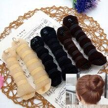 1 шт., для девушек, сделай сам, стиль волос, для женщин, для укладки волос, прежняя волшебная губка, булочка, для изготовления пончиков, кольцо, формирователь, пена, инструмент для плетения