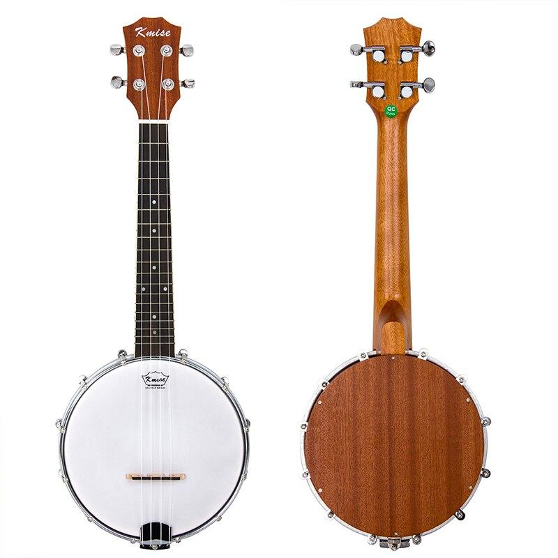 Kmise 4 String Banjolele Banjo Ukulele GCEA 23 Inch Concert 8-inch Drumhead Aquila String Closed Back