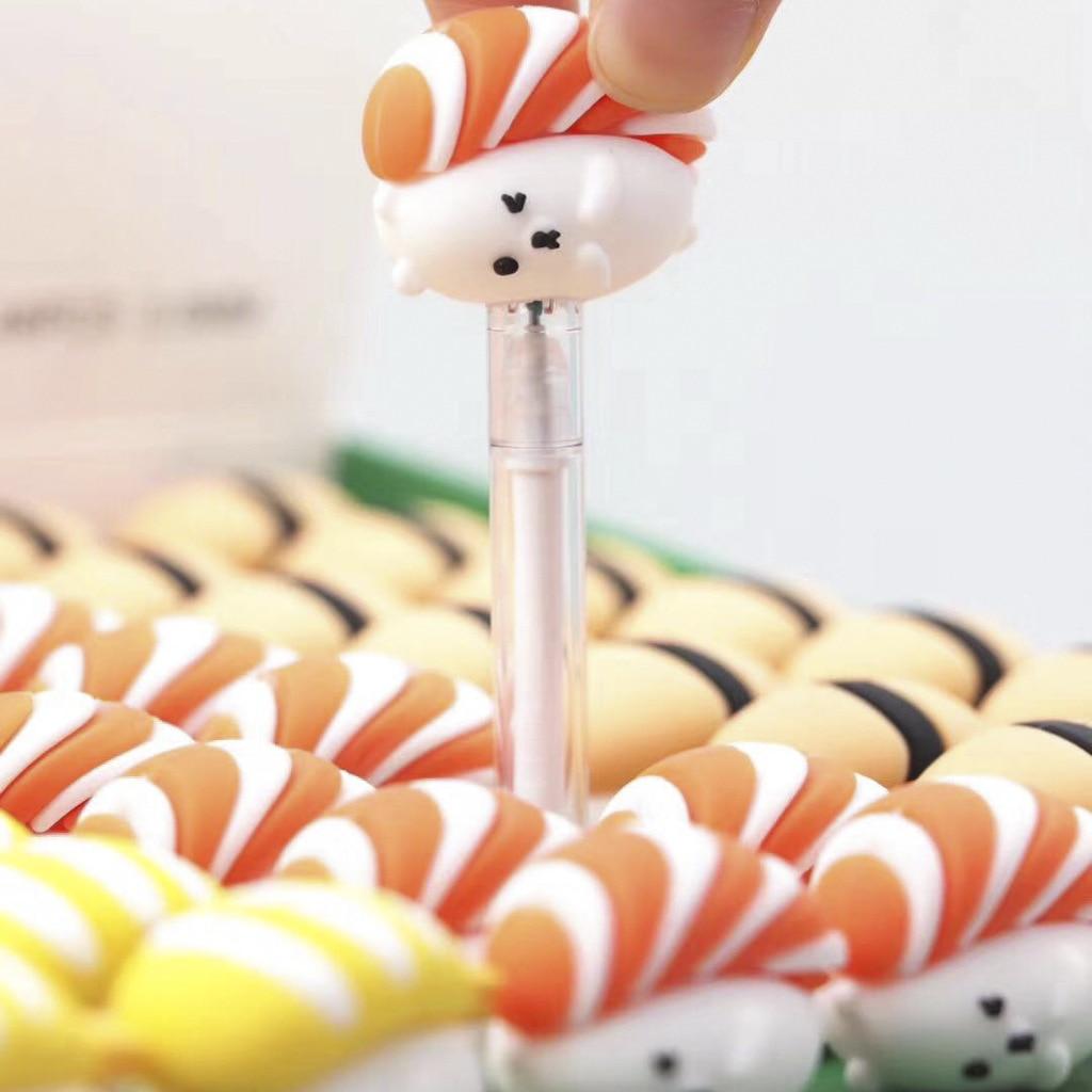 3 Pcs/lot Kawaii Lovely Rice Balls Sushi Gel Pen Signature Pen Escolar Papelaria School Office Supply Promotional Gift