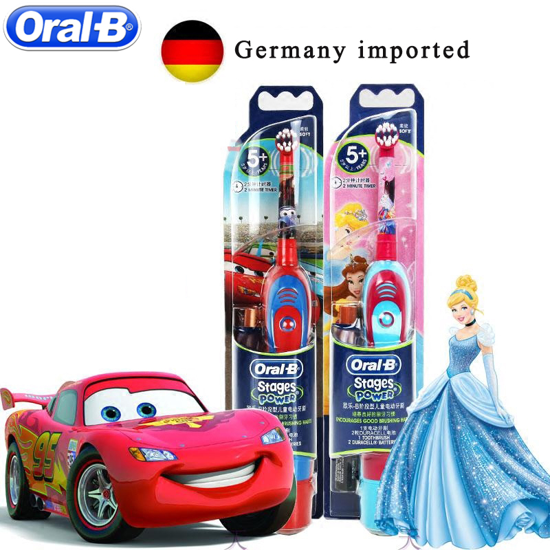 Oral B Children Electric Toothbrush Oral Care Kids Sonic Electronic Brush Stages Battery Power Tooth brush Electric image
