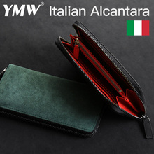 YMW ALCANTARA Wallet Women & Man Phone bag Card Holder Bag Luxury Artificial Leather Genuine Leather Cards Package