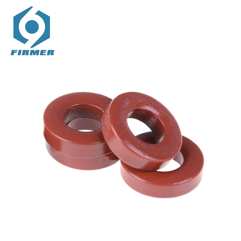 sourcing map Toroid Core Yellow White 10pcs 14 x 27.3 x 14.8mm Ferrite Chokes Ring Iron Powder Inductor Ferrite Rings