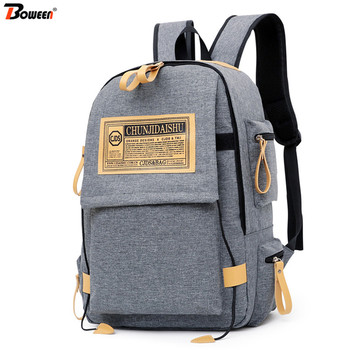 Personality Casual Campus School Bags for Teenage Girls Boys Oxford Black Gray College High School Backpack Men Large Capacity fashionable backpack for men pu waterproof backpack for high school students campus schoolbags large capacity computer