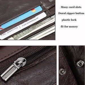 Image 5 - WESTAL hommes portefeuille en cuir véritable sac à main pour hommes pochette mâle longs portefeuilles pour téléphone porte monnaie hommes sacs dargent porte cartes 6018