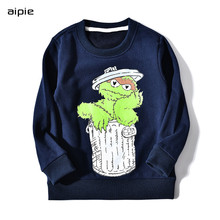 Promotion Children's sweatshirts New fashion print cartoon pattern Cotton 100% For boys girls hoodies Kids sweatshirts