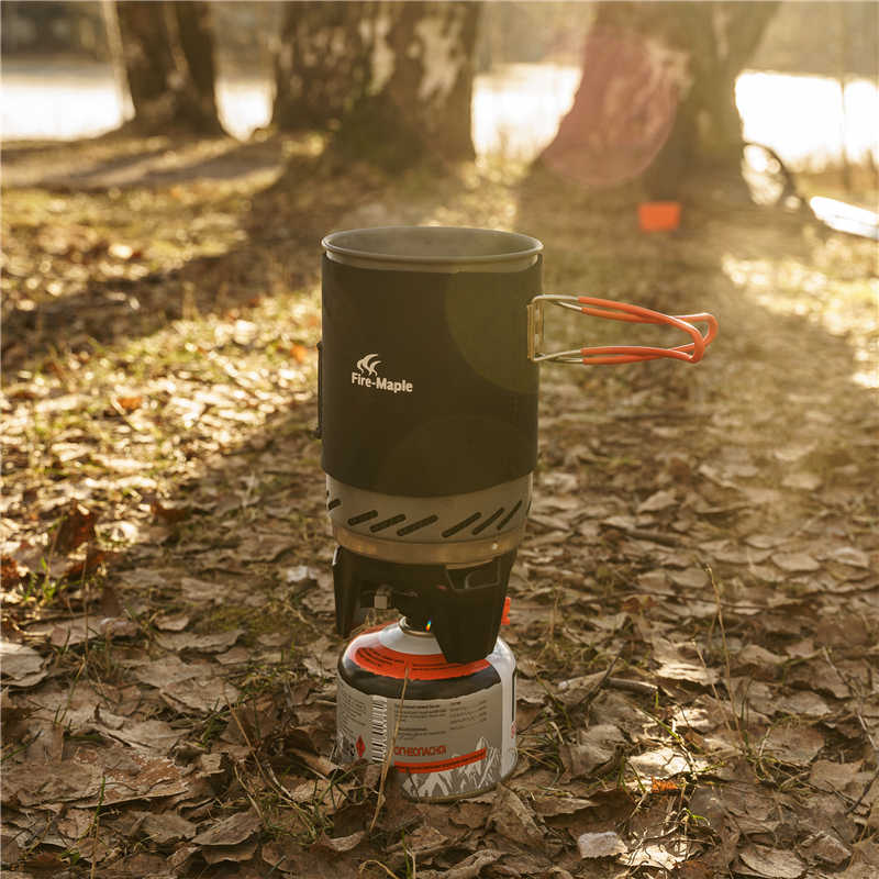 Fire Maple Star X1 เตาแคมปิ้งกลางแจ้งเดินป่าทำอาหารระบบเตาแลกเปลี่ยนความร้อนหม้อชามเตาก๊าซแบบพกพา FMS-X1