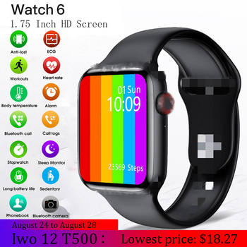 2020 Men Women Smart Watch Iwo 12 W26 T500 Smart Watches For Andriod IOS Series 5 44MM Bluetooth Call Music Smartwatch Iwo 13 iwo12 plus smart watch for android ios phone 44mm series 5 watches men women bluetooth call heart rate smartwatch vs iwo 12 13