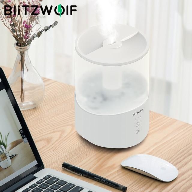 BlitzWolf BW SH1 2.5L مرطب بالموجات فوق الصوتية زيت طبيعي الناشر 110 240 فولت 360 درجة التحكم باللمس بالموجات فوق الصوتية الترطيب