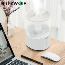 BlitzWolf BW SH1 2.5L Ultrasonic Humidifier Essential Diffuser น้ำมัน 110 240V 360 ° TOUCH Control Ultrasonic ความชื้น