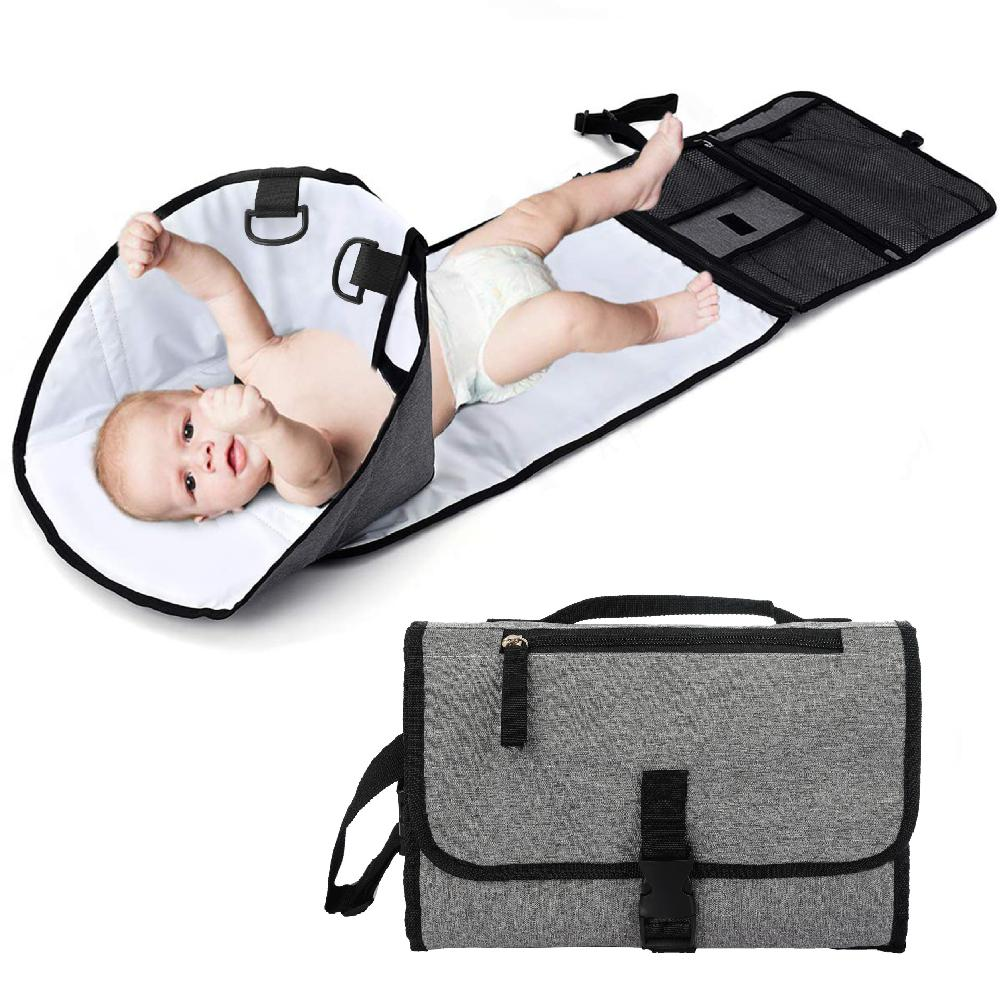 New Waterproof Baby Diaper Travel Multifunction Home Change Pad Portable Changing Mat Clean Hand Folding Diaper Bag