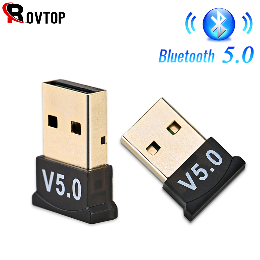 USB Bluetooth 5.0 Adattatore Trasmettitore Bluetooth Ricevitore Audio Bluetooth Dongle Wireless Adattatore USB per il Calcolatore Del PC Del Computer Portatile title=