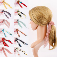Get more info on the Vintage Hair Band Scrunchies Women Girls Hair Accessories Ribbon Hair Scarf Elastic Ponytail Holder Rubber Leopard Dot Hair Ties