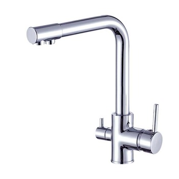 PHFU-3 Way Kitchen Taps, Drinking Water, Hot and Cold Water 2 Handle Swivel Spout Water Filter Kitchen Sink Taps Mixer Faucet