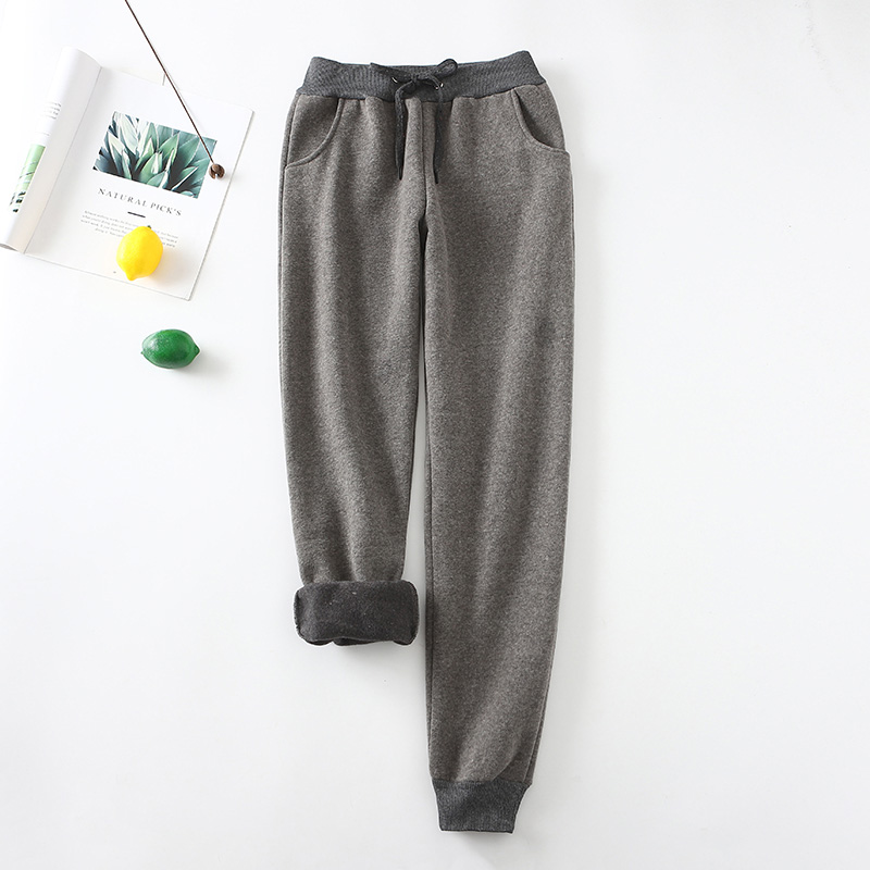 2019 New Winter Women Warm Thick Velvet Sweatpants Sports Running Pants Gym Fleece Trousers Workout Casual Loose Plus Size 2xl