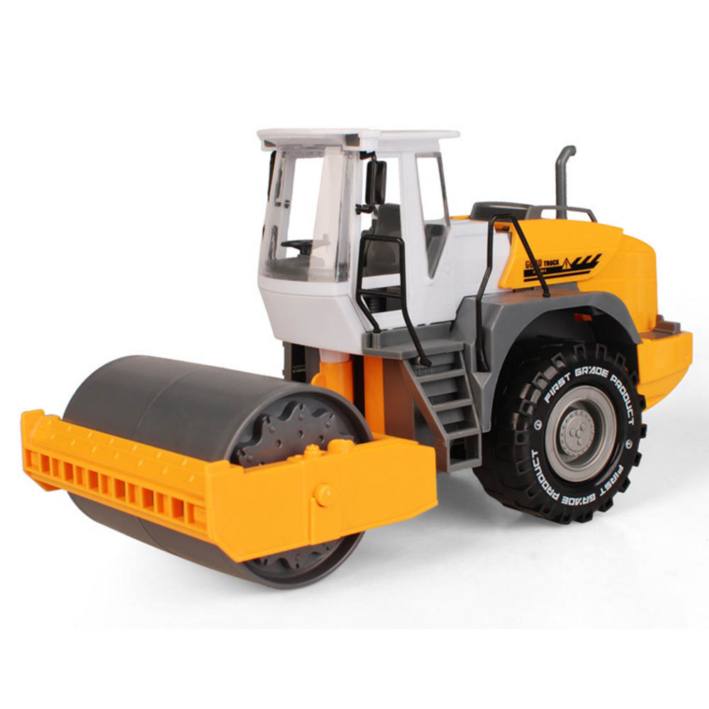 Simulation Toy RC Road Roller Truck Toys Children's Boys  Truck Beach Toys Construction Toy Engineering Model Children Car