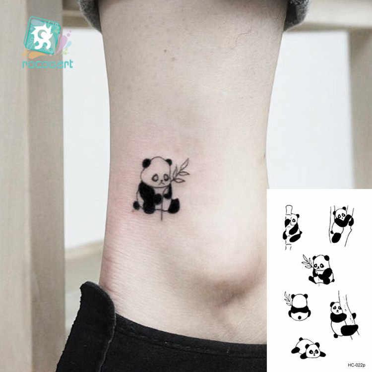 Rocooart hayvan su geçirmez geçici dövme etiket Flamingo kedi tilki dövme vücut sanatı kadınlar yeni sahte Taty Tatuaje sevimli küçük dövme