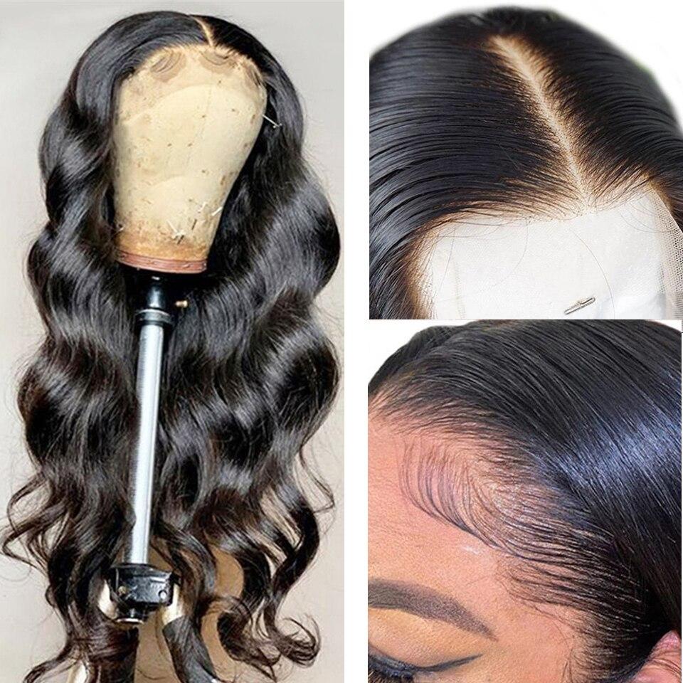 Предварительно выщипанный малайский волнистый парик с детскими волосами, прозрачные кружевные парики HD 13X1 T, парики из человеческих волос