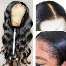 Pré arrancadas peruca da onda do corpo da malásia com o cabelo do bebê perucas transparentes do laço hd 13x1 t parte perucas do cabelo humano do laço