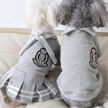 Зимняя одежда в студенческом стиле для собак, костюм для щенков, куртка, куртка, чихуахуа питомец, одежда для маленьких и средних собак, костюм, платье