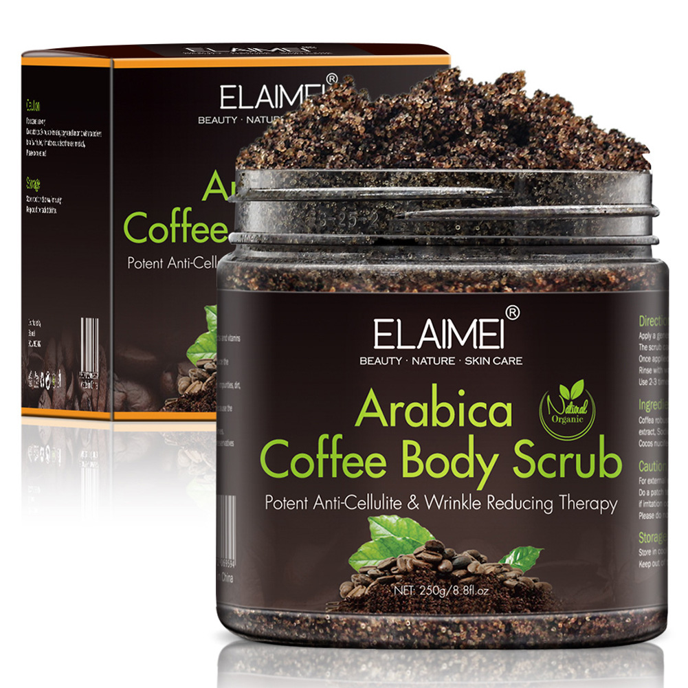Nourish Foot Face Neck Coffee Arabica Wrinkle Reducing Body Scrub Anti Cellulite Detoxifying Mineral Exfoliating Deep Clean Hand