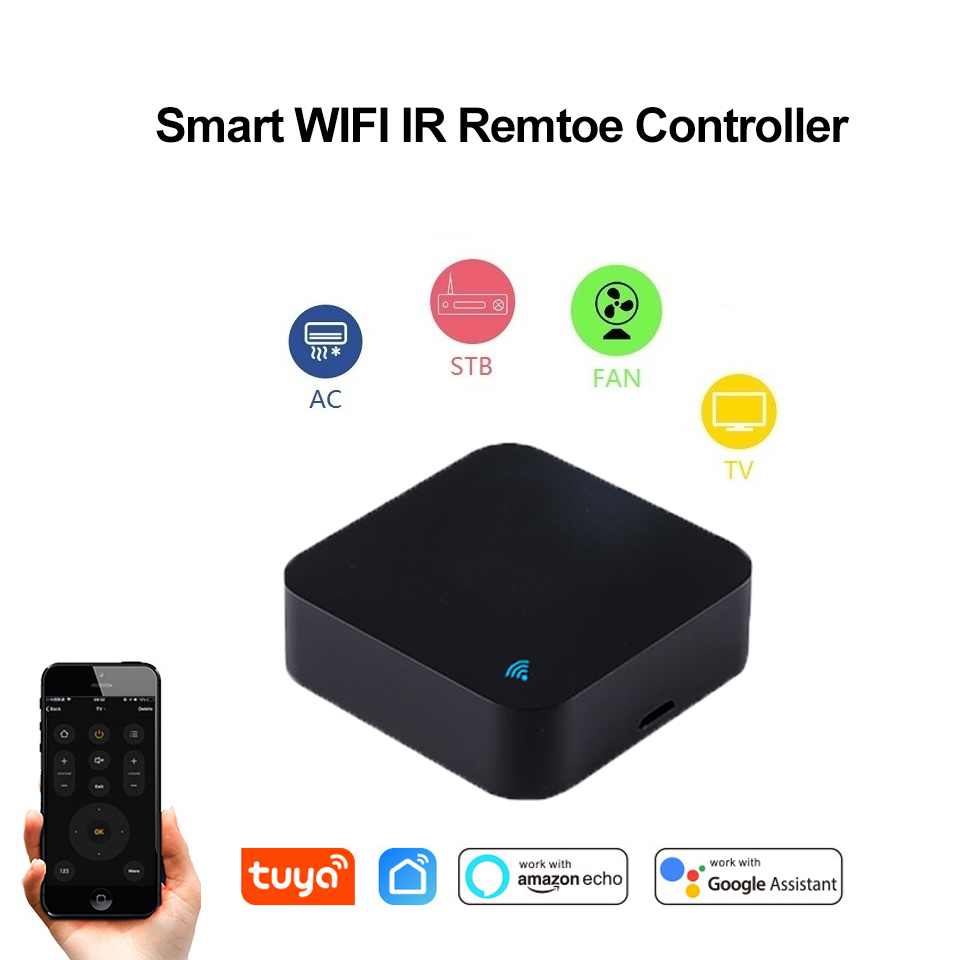 Smart WIFI+IR APP Remote Controller For Infrared Aircondition/TV Universal Bridge Work With Alexa /Google Home For Smart Home