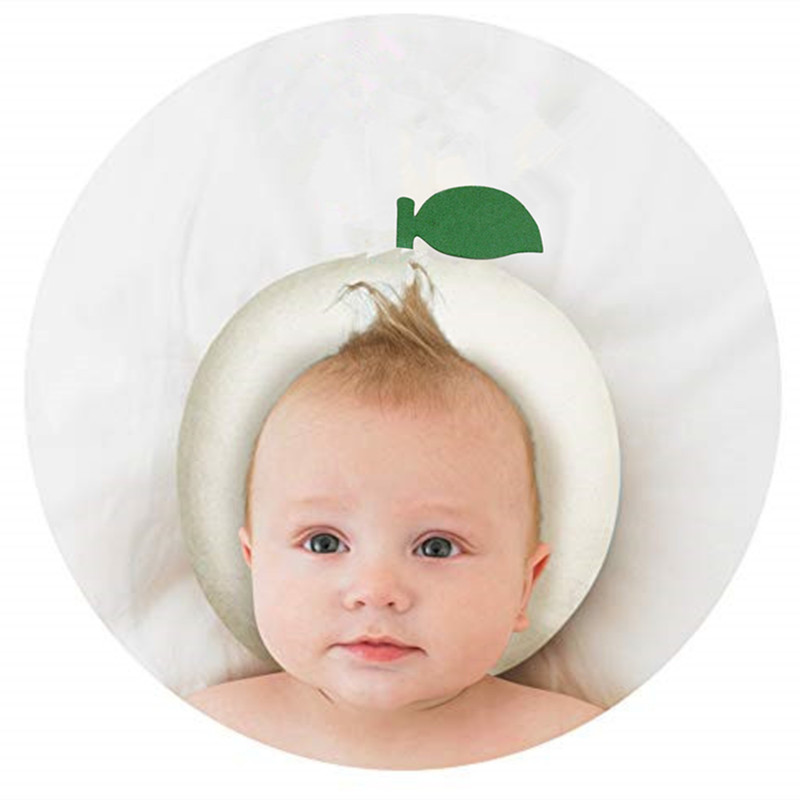 Cute Newborn Infant Girls Boys Anti Roll Cotton Pillow To Prevent Flat Head For Babies 3