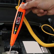 Bolígrafo de prueba de circuito eléctrico para coche, Detector de prueba de voltaje automotriz con pantalla de 2,5 32V, pluma de prueba de sonda de potencia