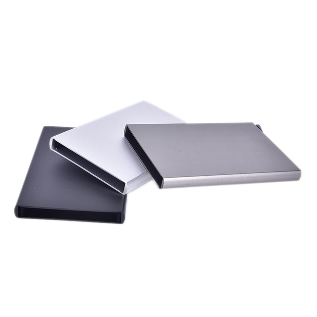 Quality Stainless Steel Credit Card Holder Men Slim Anti Protect Travel ID Cardholder Women Rfid Wallet Metal Case Porte Carte 1