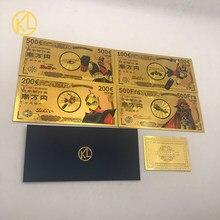 4 pçs/set UFO Robot Grendizer Goldorak albator Ouro De Notas para Os Fãs de Anime Japonês Coleção Presente Decoração de Casa