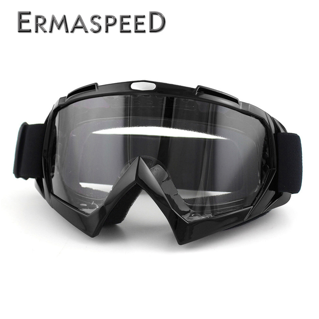Motocross Goggles Helmet Steampunk 100% Windproof Ski MX Goggles Moto Cross Cafe Racer Chopper Glasses ATV Dirt Bike Men Eyewear