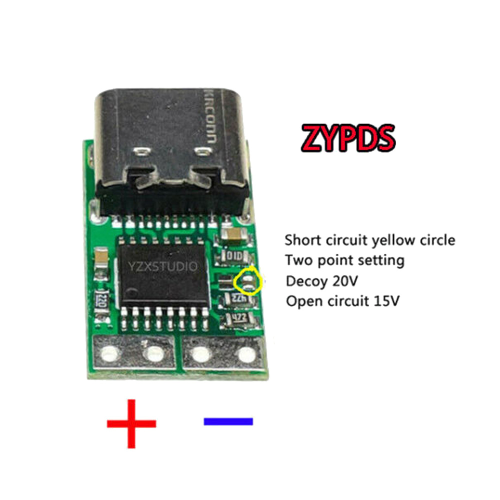 100W Type-C USB C PD2.0 3.0 To DC USB Fast Charge Trigger Poll Detector Charging For ZYPDS, ZY12PDG 3-20V Power Board Module