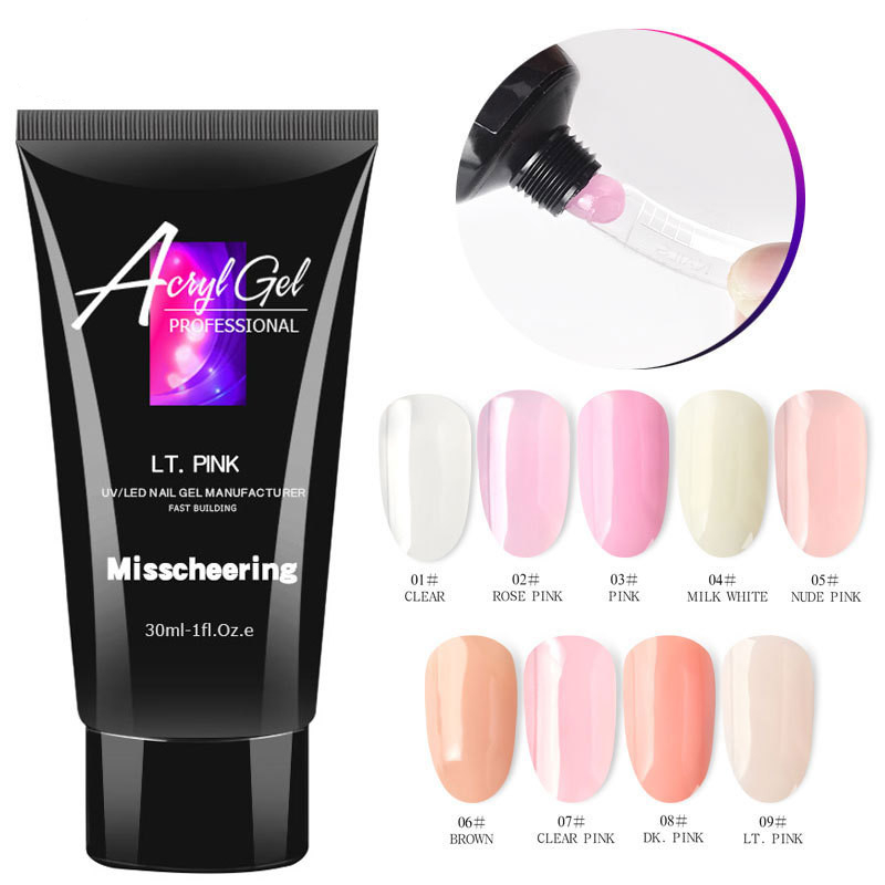 30ml Acrylic Poly Extension Gel For Manicure Nail Finger Extension Crystal Soak-off Quick Poly Nail Gel Polish Nail File Tools